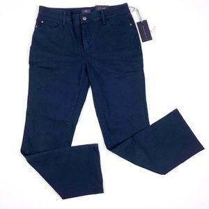 NYDJ NWT Navy Blue Heritage Straight Leg Jeans